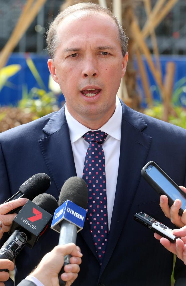 Also against any priority given to health fund members in emergency departments ... Federal Health Minister Peter Dutton. Picture: Richard Gosling