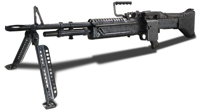 An M 60 machinegun, sought after by collectors.