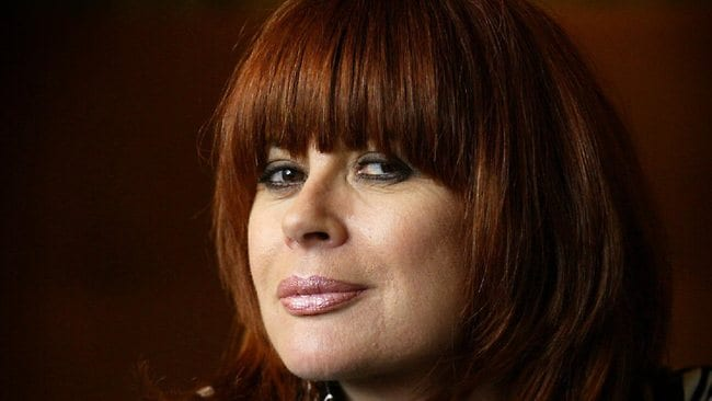 Singer Chrissy Amphlett, former front woman for band Divinyls, relaxes in Sydney as she talks about her autobiography 'Pleasure and Pain: My Life'. Picture: Toby Zerna