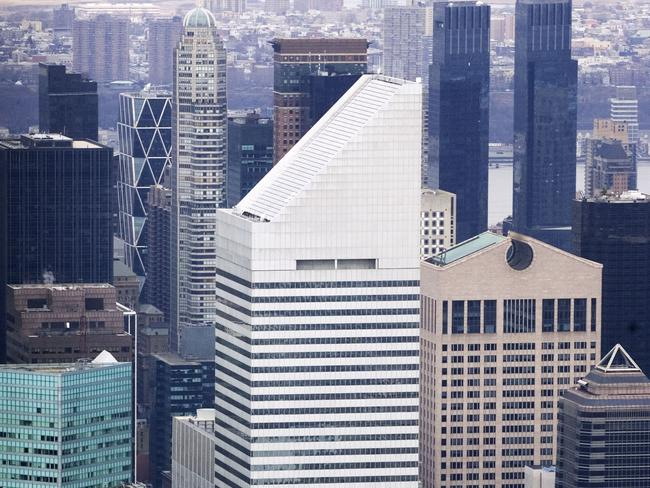 Skyline ... The Citigroup headquarters in New York. The building had to be secretly evacuated and fortified after a student realised it would blow over in a hurricane. Picture: AP