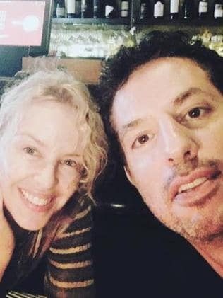 Kylie Minogue with Guy Oseary on Wednesday. Picture: Instagram/@GuyOseary.