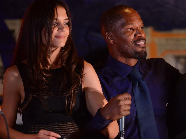 Close ... Katie Holmes and Jamie Foxx perform in August 2013. Picture: Supplied