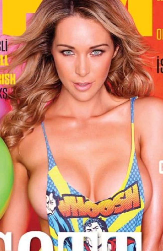 Emily Scott featuring on the cover of FHM