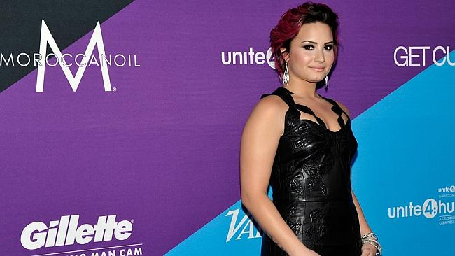 Singer Demi Lovato was not impressed with Gaga's onstage vomit stunt. Picture: Getty