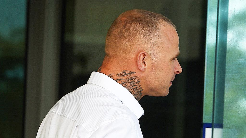 Adam Robert Anderson outside Christies Beach Magistrates Court after pleading guilty on Wednesday.