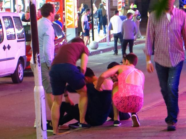 Young tourists run into trouble in Magaluf.