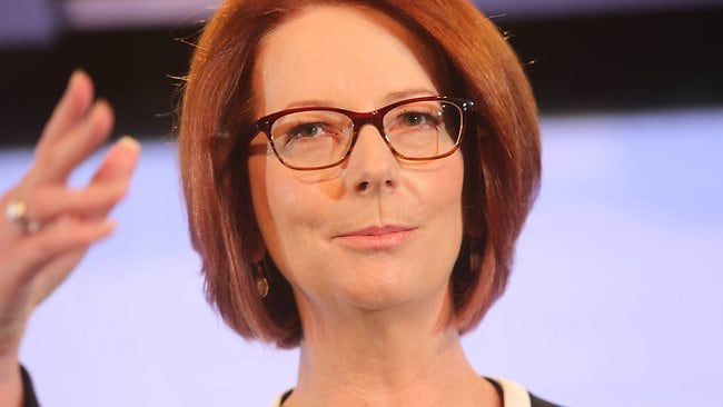 The Prime Minister Julia Gillard during an address to the National Press Club. Picture: Gary Ramage