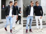Jordan and Zac Stenmark arrive at Mercedes-Benz Fashion Week Australia 2015 at Carriageworks on April 13, 2015 in Sydney, Australia. Picture: Getty