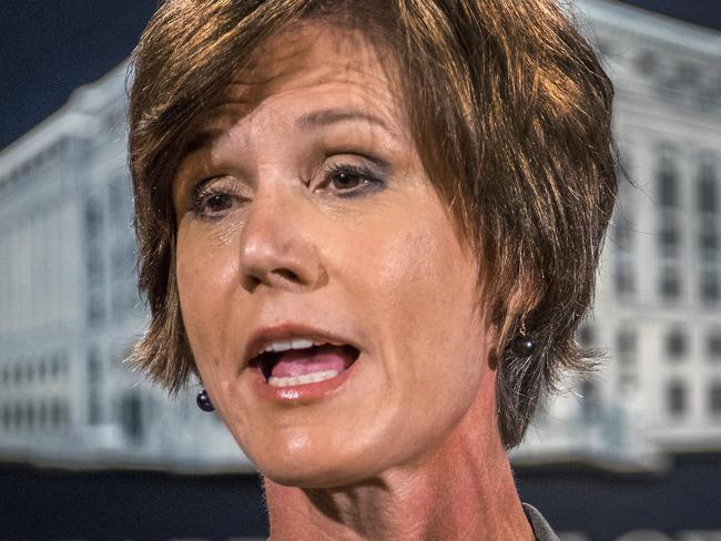Attorney-General Sally Yates refused to support a ban on Muslim immigration. It cost her her job. Picture: J David Ake/AP