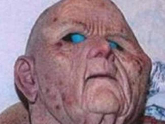 Terrifying disguise ... The doctor wore this mask to disguise himself. Picture: Aftonbladet.se