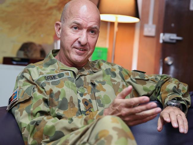 Soldiers do not have total indemnity from prosecutions ... Major General Craig Orme, in charge of Australian operation in the Middle East. Picture: Gary Ramage