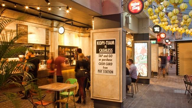 Kopi-Tiam Spice Alley, Kensington Street is fully cashless. Photo: supplied