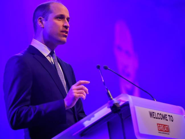 Prince William paid tribute to Australia hosting the 2018 Commonwealth Games. Picture: AFP