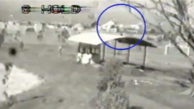 CCTV footage of John Killick escaping prison via a helicopter hijacked by his former lover Lucy Dudko. Picture: Supplied
