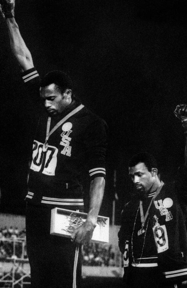 John Dominis's Black Power Salute shattered the illusion that all was right in the world in 1968. Picture: John Dominis
