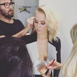 "Kristen Bell ... ""Thank you to the gorgeous glam squad who got me ready today"" Picture: Instagram"