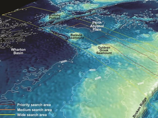 Detailed mapping ... completed off the southern Indian Ocean where MH370 is believed to have come down after running out of fuel. Picture: AFP