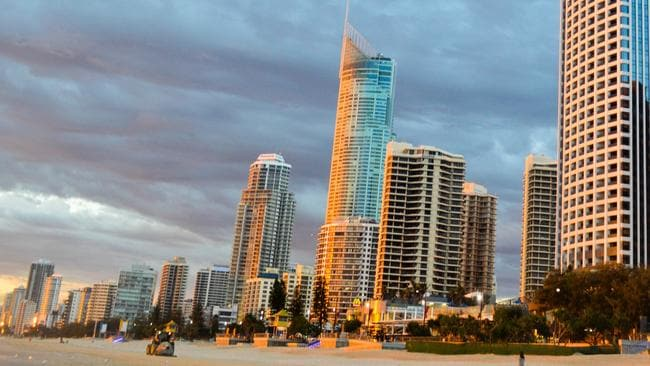 1. Sunrise at Surfers Paradise beach. Picture: Daniel Pasquale