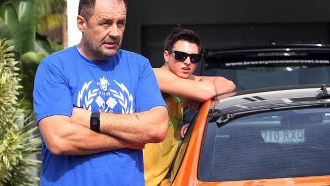 Australian Tennis star Bernard Tomic pictured in a previous car incident with police. He ended up at his Southport home with police following. Picture: Adam Head