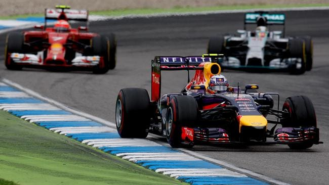 Ricciardo battled his way through the field at Hockenheim.