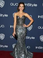 Kate Beckinsale arrives at the 15th annual InStyle and Warner Bros. Golden Globes after party at the Beverly Hilton Hotel. Picture: Getty