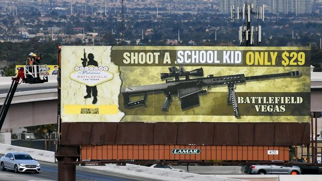 The #Enough movement has also voiced resolute opposition to arming school staff members. Ethan Miller/Getty Images/AFP