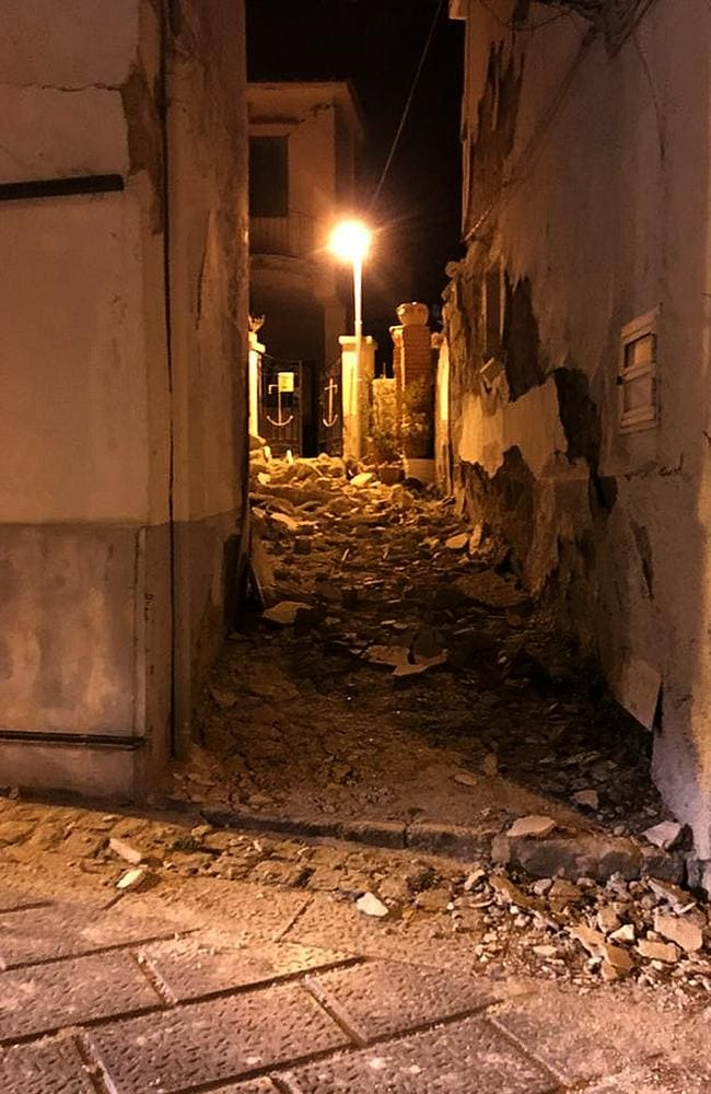 An earthquake hit the popular Italian tourist island of Ischia, off the coast of Naples. Picture: AFP