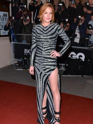 Lindsay Lohan attends the GQ Men of the Year awards.
