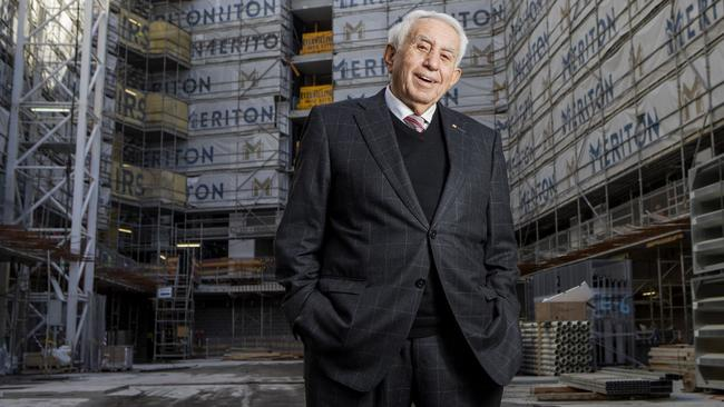 Meriton chief Harry Triguboff at his Mascot development near Sydney Airport. Picture: Hollie Adams