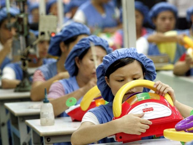 China is one of the biggest manufacturers in the world. Picture: Eugene Hoshiko/AP