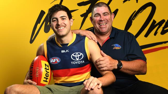 Ben Jarman will wear No.45 for Adelaide in 2017. Picture: Tom Huntley
