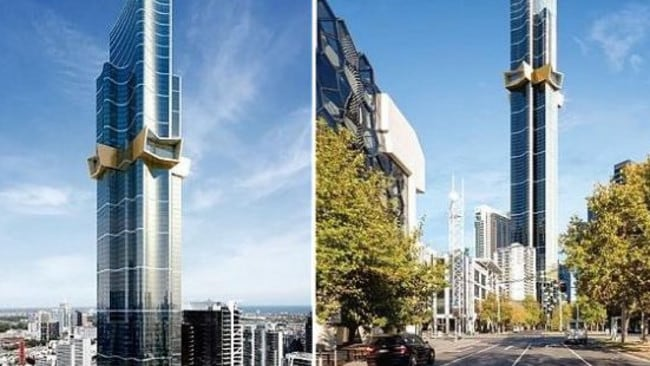 Artists's impressions of the recently approved Australia 108 tower in Melbourne.