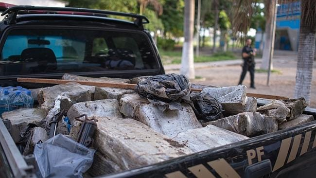 Clean-up... A truck filled with seized drugs. Picture: Buda Mendes/Getty Images