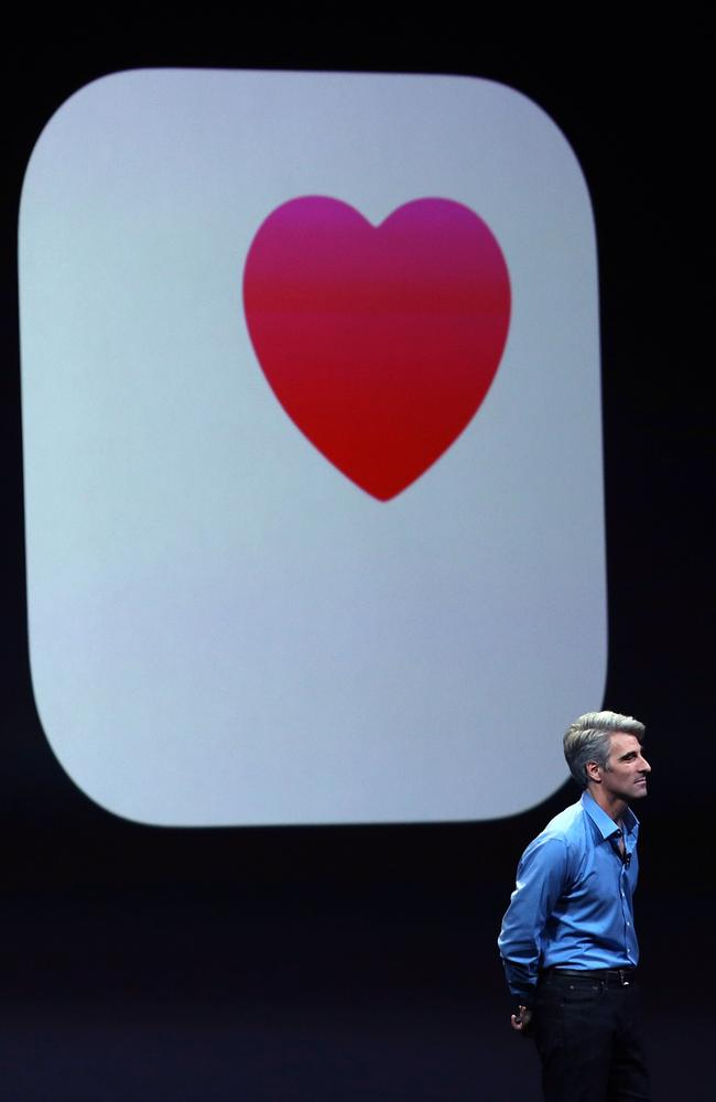 Everyone jumping in on the health craze ... Apple Senior Vice President of Software Engineering, Craig Federighi, wants your iPhone to help with keep fit.