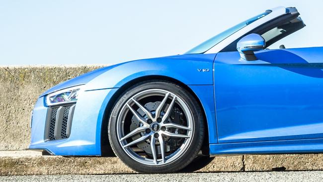 Big brakes allow the R8 to pull up in a hurry. Picture: Thomas Wielecki