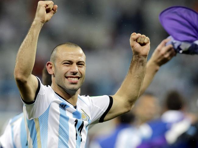 Argentina's Javier Mascherano saved his team with a last ditch tackle against the Netherlands.