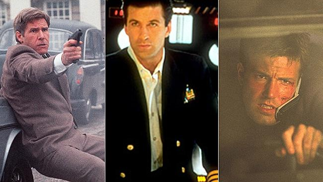 Harrison Ford in Patriot Games (1992), Alec Baldwin in The Hunt for Red October (1990) and Ben Affleck in The Sum of All Fears (2002). Pictures: Supplied