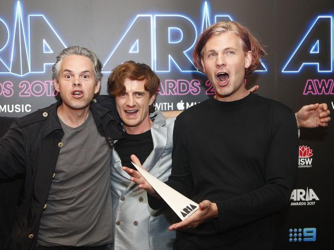 PNAU returned to the top 50 this year with Chameleon which won the ARIA for Best Dance Release. Picture: AAP Image/Daniel Munoz.