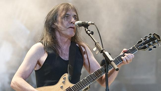 Rock-solid rhythms ... brother Angus may get most of the glory, but Malcolm Young is the driving force behind AC/DC.