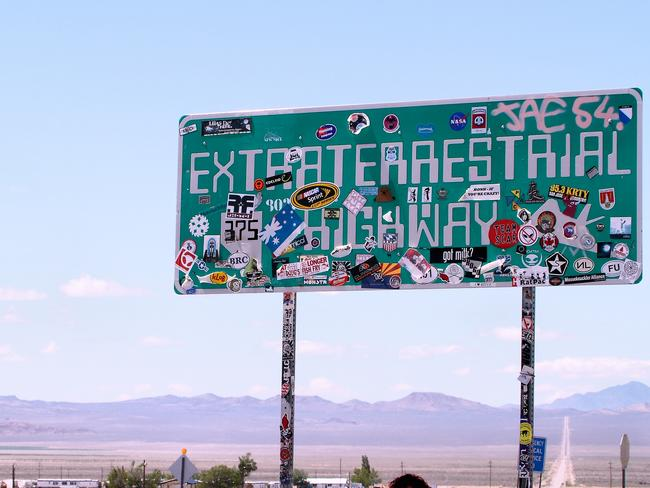 The highway at Area 51. Picture: Airwoldhound