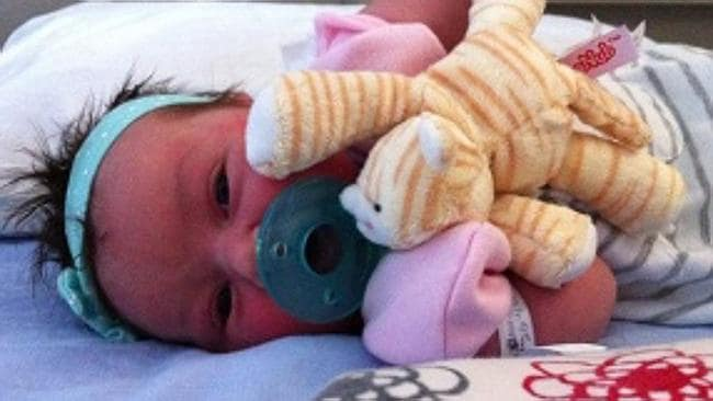 Vanished ... baby Victoria was taken from her mother's hospital room by a woman claiming