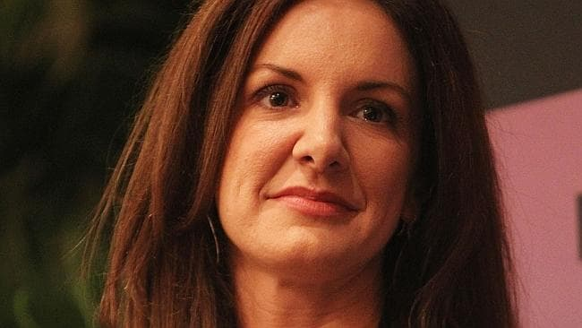 Cinnabon President Kat Cole speaks onstage at the Fortune Most Powerful Women Summit in Washington. Picture: Getty.