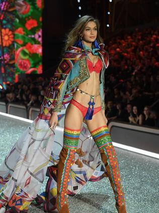 Hadid shined in this year's VS Fashion Show but some called her too thin.
