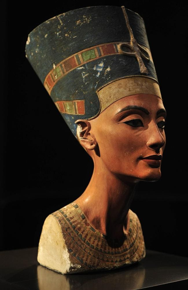 Exquisite art ... A bust of the ancient Egyptian queen Nefertiti in Berlin's Neues Museum. Source: AFP