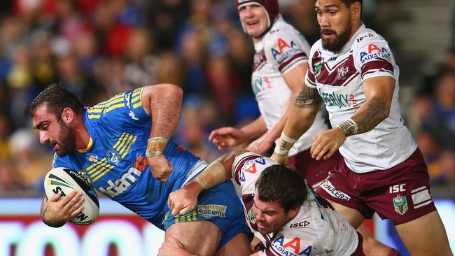 The Sea Eagles put in a superb first half defensive display.