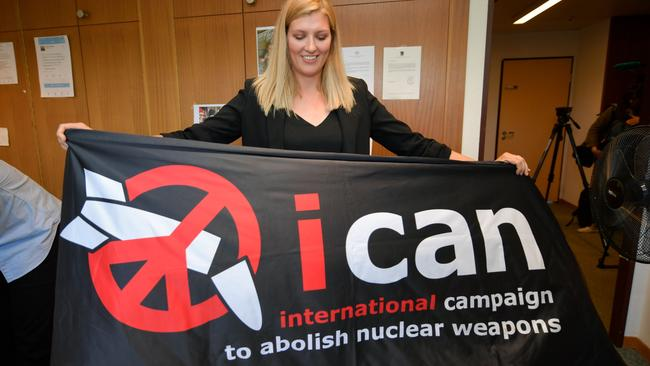 Image result for Beatrice Fihn, ICAN's Executive Director