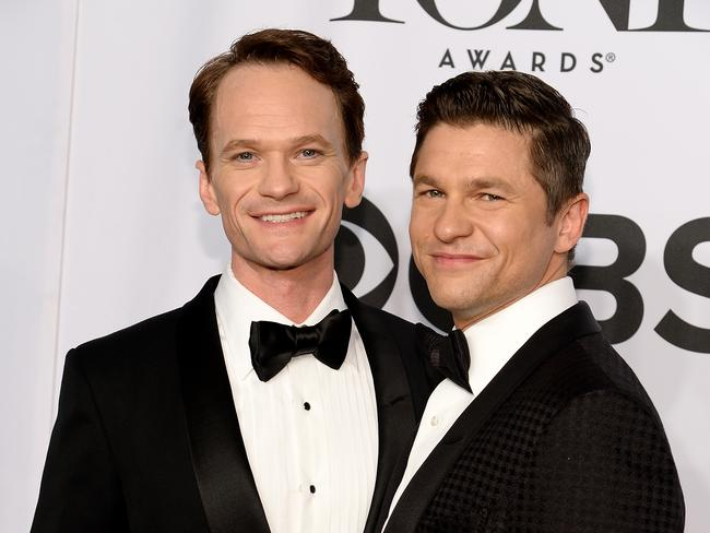 Neil Patrick Harris and David Burtka arrive in style.