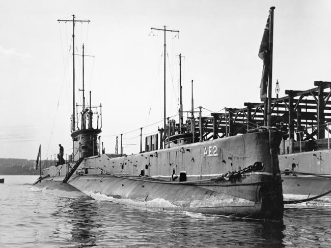 Daring mission ... One of Australia's first two submarines, AE2, was lost while engaging in a risky behind-enemy-lines raid during the opening days of the ANZAC attack on the Dardanelles. Picture: Australian War Memorial