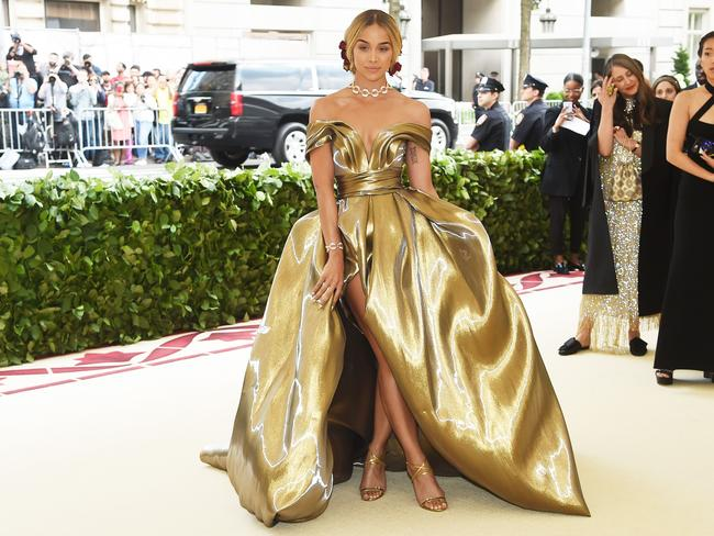 Jasmine Sanders attends the Heavenly Bodies: Fashion and The Catholic Imagination Costume Institute Gala at The Metropolitan Museum of Art on May 7, 2018 in New York City. Picture: AFP