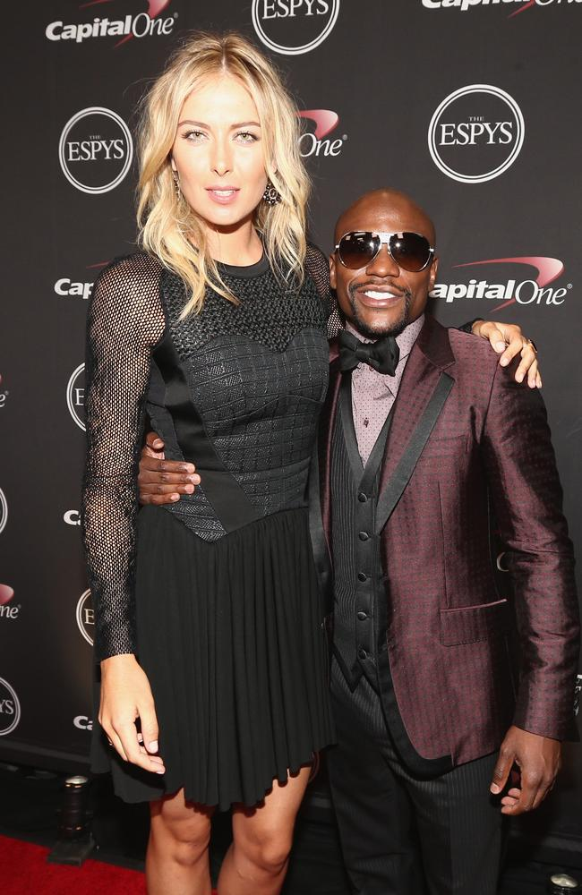 Tennis player Maria Sharapova and boxer Floyd Mayweather Jr.